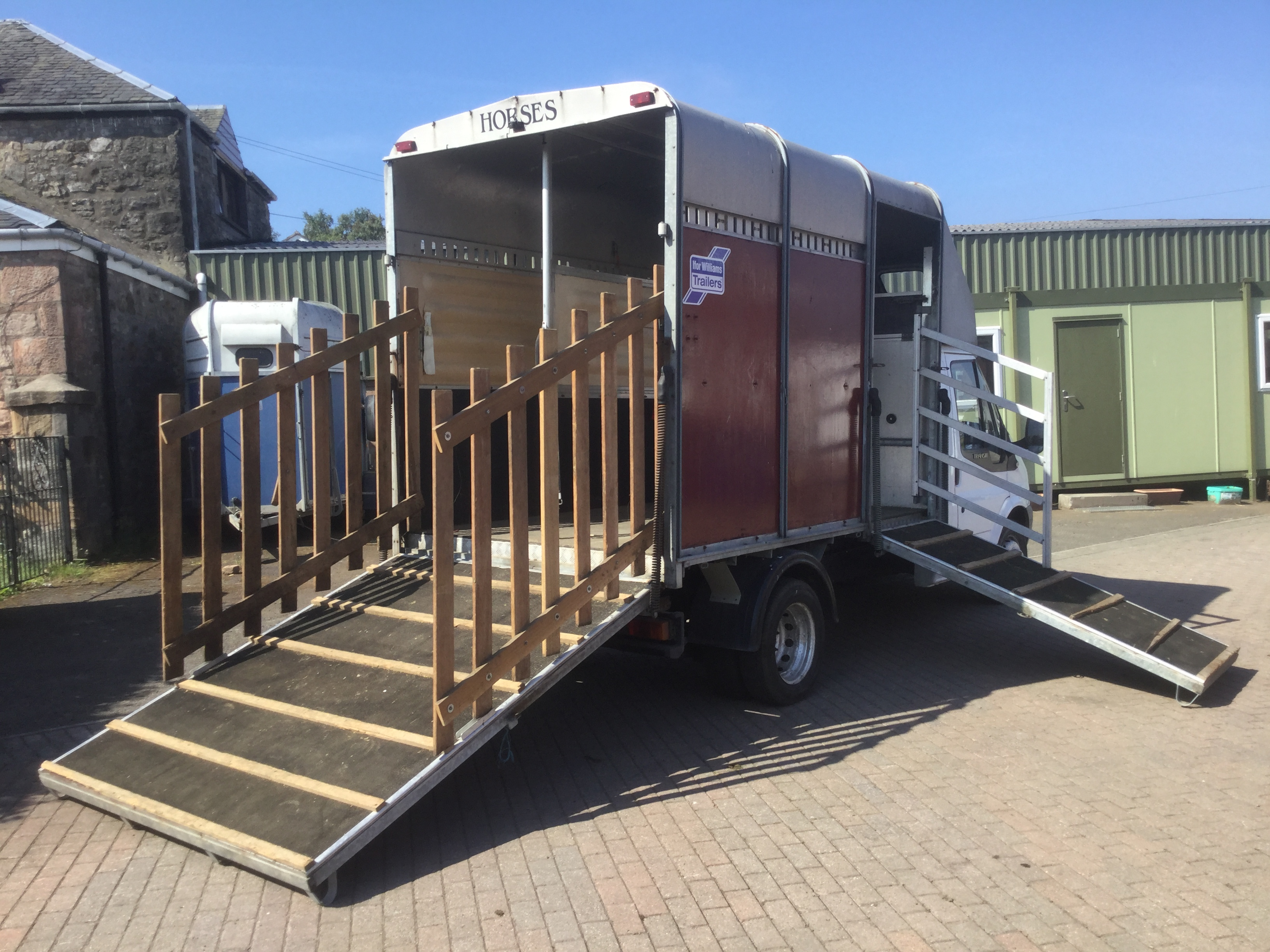 Transit Ifor Williams horsebox side view